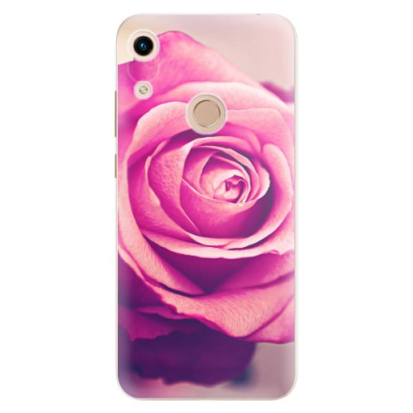 Odolné silikonové pouzdro iSaprio - Pink Rose - Huawei Honor 8A