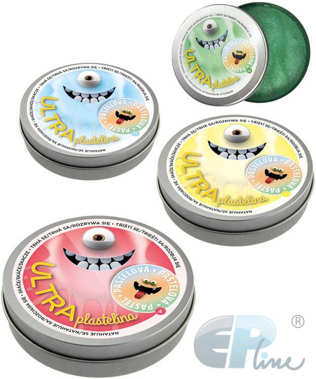 EP line Inteligentní plastelína 80g pastelová chytrá hmota 12 druhů plechová krabička