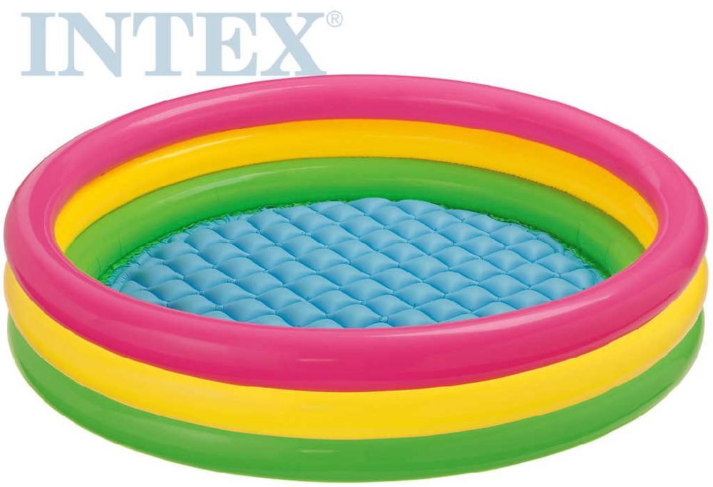 INTEX Bazén dětský KRUH 114 x 25 cm nafukovací