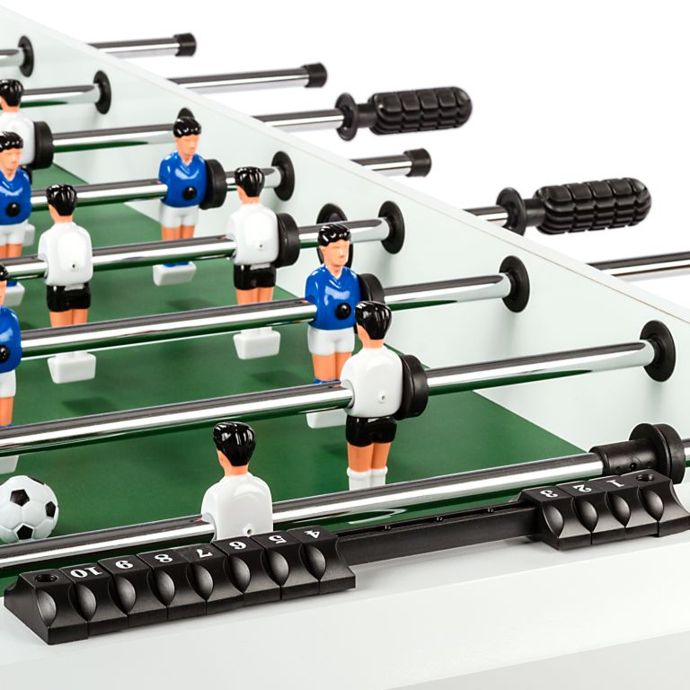 Stolní fotbal fotbálek rozkládací Belfast 121 x 101 x 79 cm - bílý