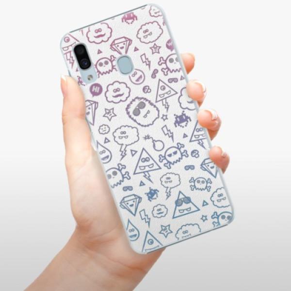 Plastové pouzdro iSaprio - Funny Clouds - Samsung Galaxy A20