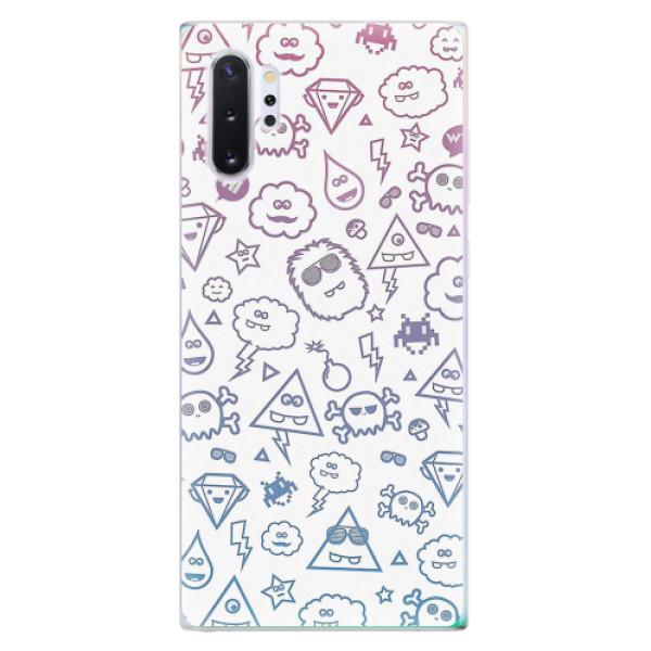 Odolné silikonové pouzdro iSaprio - Funny Clouds - Samsung Galaxy Note 10+
