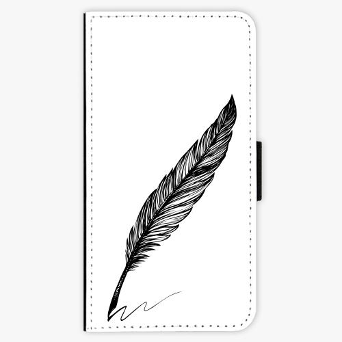 Flipové pouzdro iSaprio - Writing By Feather - black - iPhone X