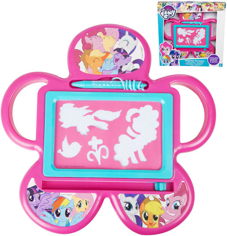 Tabulka magnetická My Little Pony set se šablonami a magickým perem