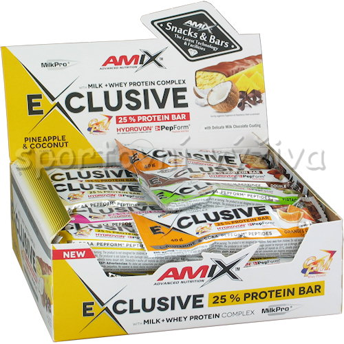 24x Exclusive Protein Bar - 40g-banana-chocolate