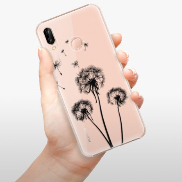Plastové pouzdro iSaprio - Three Dandelions - black - Huawei P20 Lite