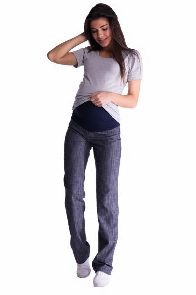 Be MaaMaa Bavlněné, těhotenské kalhoty s regulovatelným pásem - sv.