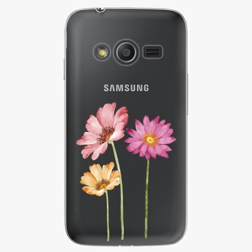 Plastový kryt iSaprio - Three Flowers - Samsung Galaxy Trend 2 Lite