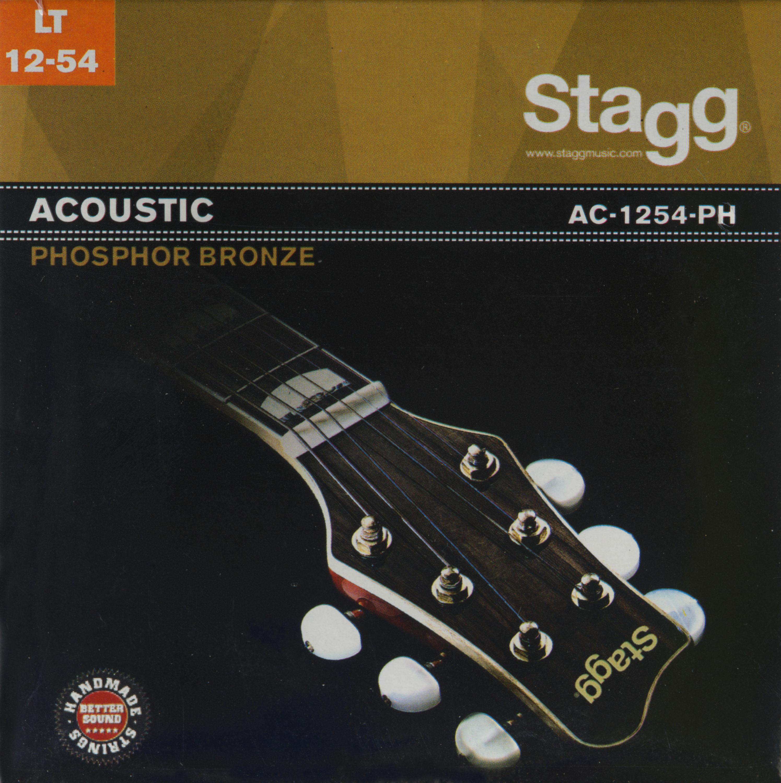 Stagg AC-1254-PH, sada strun pro akustickou kytaru, light