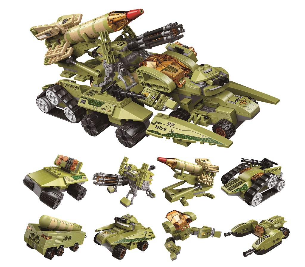 Qman Thunder Expedition Battle Car 1415 sada 8v1