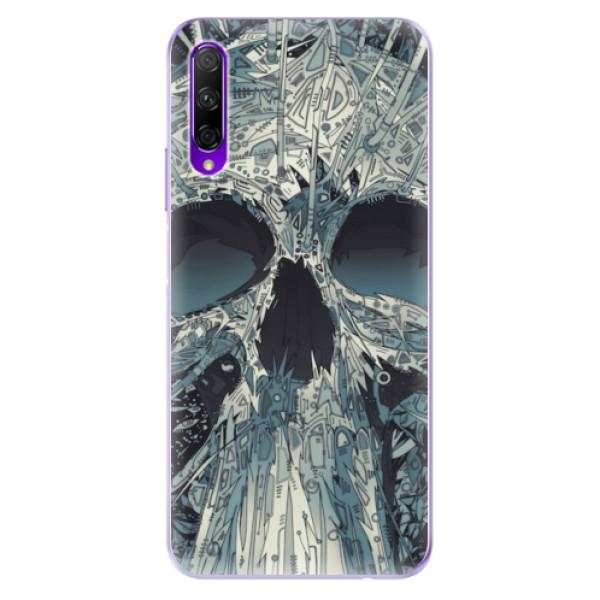 Odolné silikonové pouzdro iSaprio - Abstract Skull - Honor 9X Pro