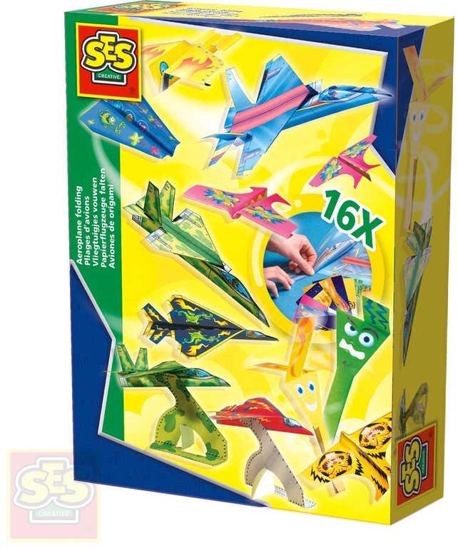 SES CREATIVE Výroba papírových letadel 16 modelů kreativní set v krabici