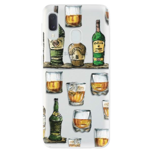 Odolné silikonové pouzdro iSaprio - Whisky pattern - Samsung Galaxy A20e