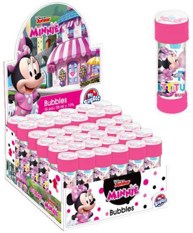 ET Bublifuk Disney Minnie Mouse 55ml dětský bublifukovač s kuličkovým labyrintem