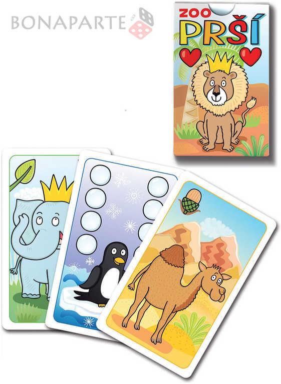 BONAPARTE Hra Prší karetní dětská zvířátka v ZOO ilustrované karty