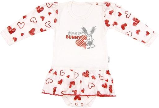 Bavlněné sukničkobody Heart - dlouhý rukáv - 68 (4-6m)
