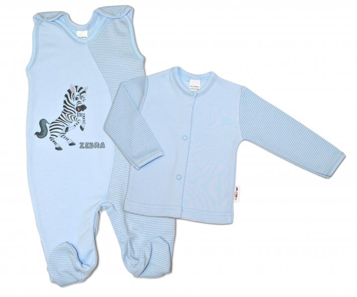 Baby Nellys 2-dílná kojenecká sada Zebra, vel.