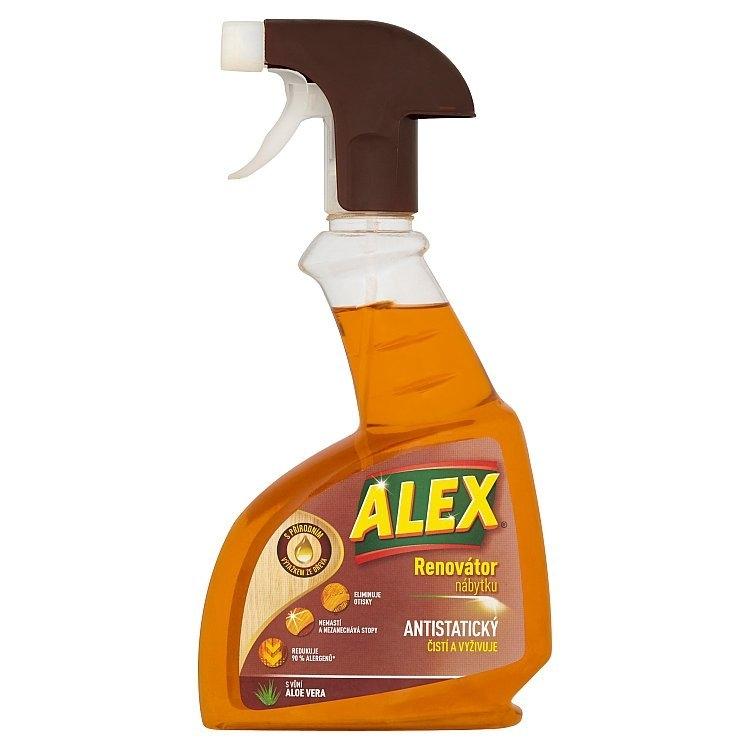 Alex ALEX Mýdlový čistič na všechny typy nábytku aloe vera, sprej 375 ml