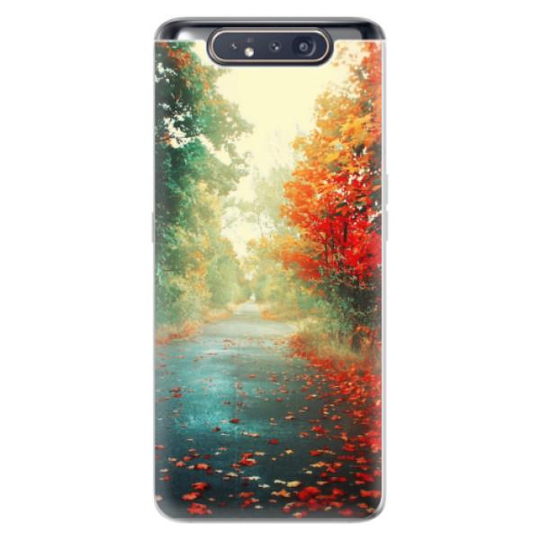 Odolné silikonové pouzdro iSaprio - Autumn 03 - Samsung Galaxy A80