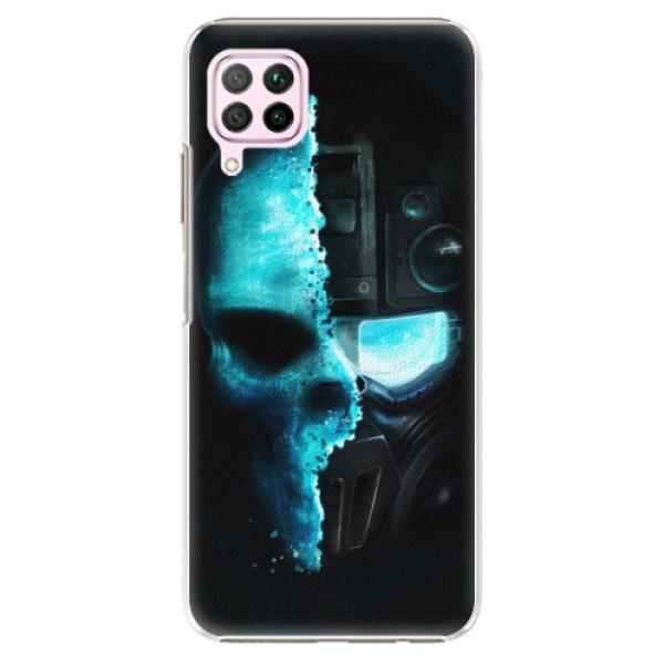 Plastové pouzdro iSaprio - Roboskull - Huawei P40 Lite