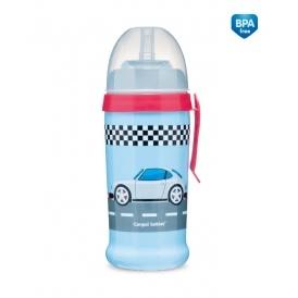 Sportovní nekapající láhev Racing - tm. modrá