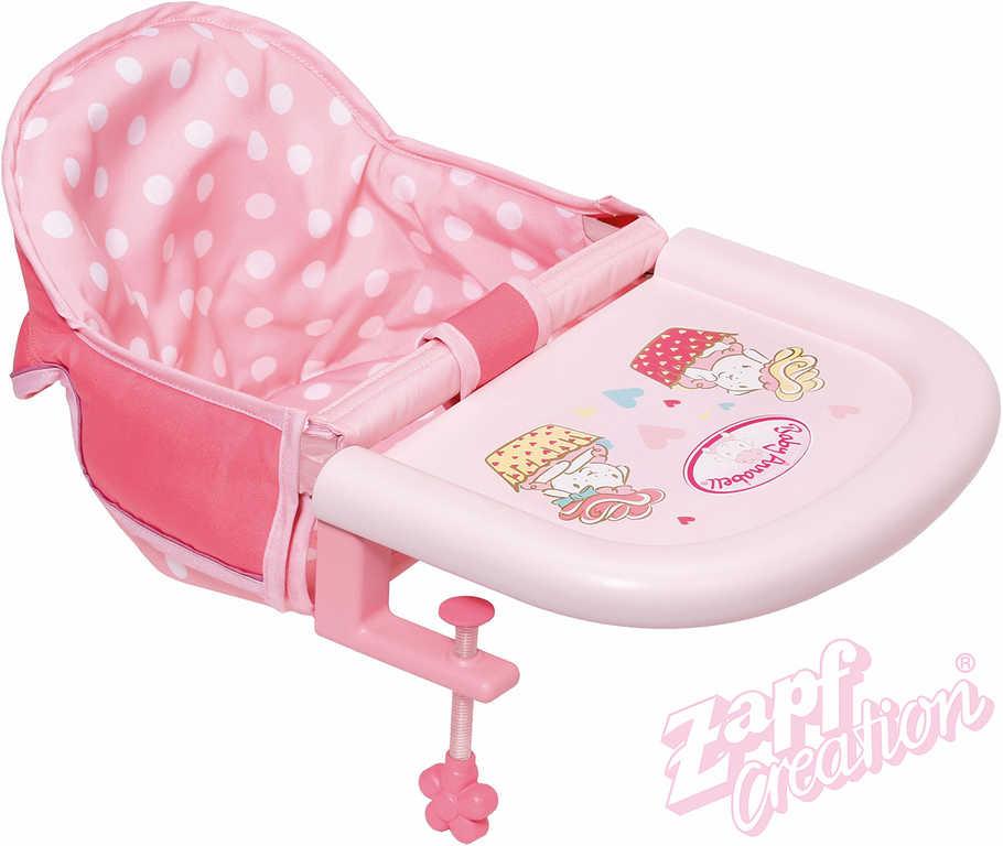 ZAPF BABY ANNABELL Jídelní židlička uchycení na stůl pro panenku miminko