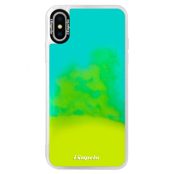 Neonové pouzdro Blue iSaprio - 4Pure - mléčný bez potisku - iPhone XS