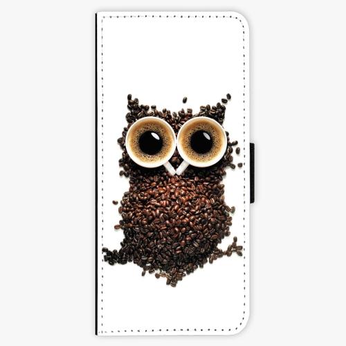 Flipové pouzdro iSaprio - Owl And Coffee - Samsung Galaxy J3