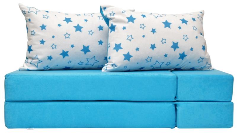 Rozkladací dětská pohovka 3 v 1 - P33 - Magic stars - modré