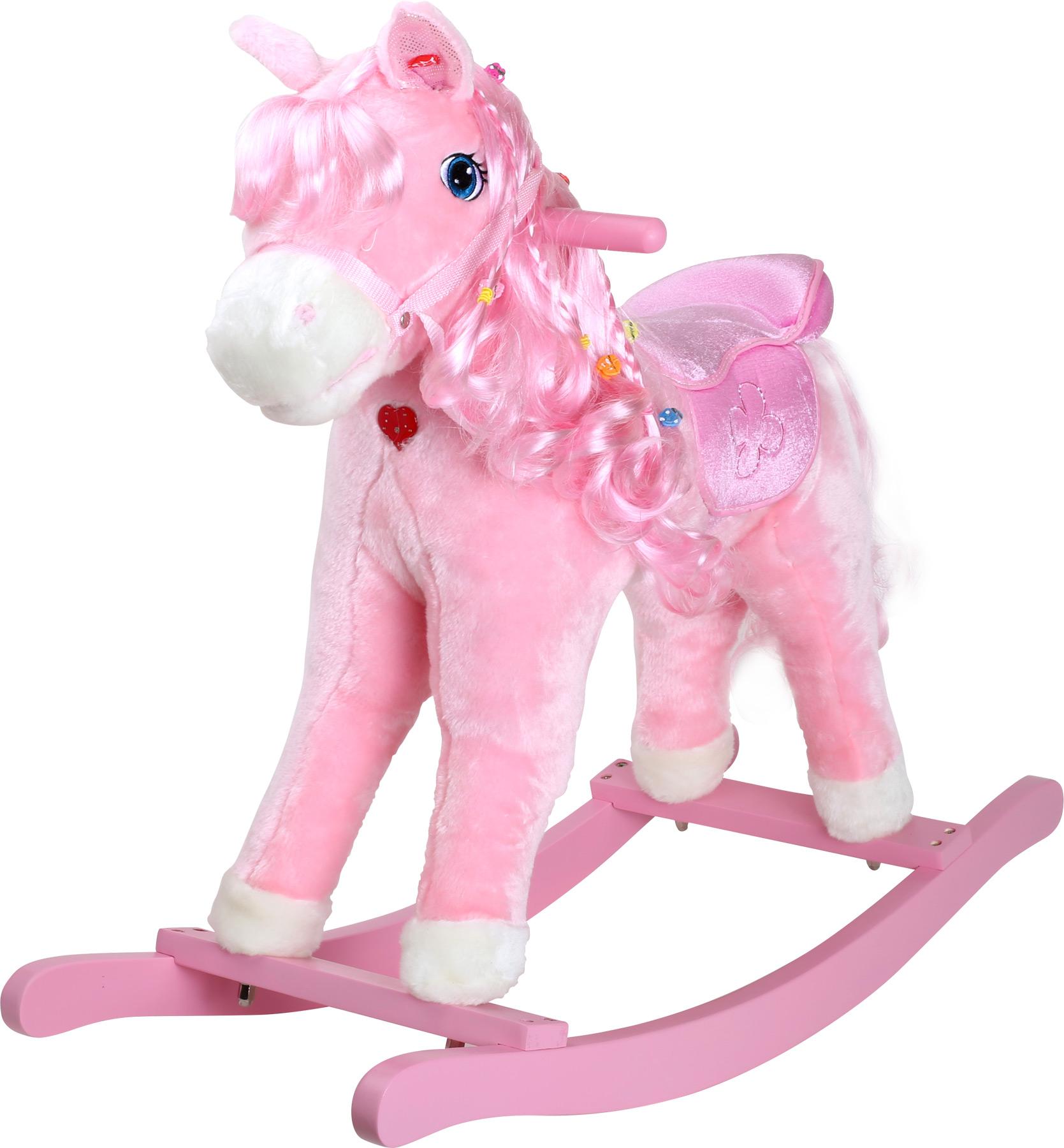Small Foot Dřevěný houpací růžový kůň Pinky