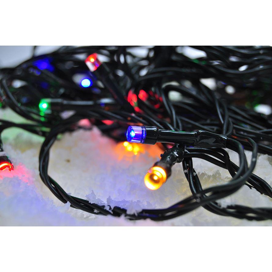 Solight LED venkovní vánoční řetěz, 500 LED, 50m, přívod 5m, 8 funkcí, časovač, IP44, vícebarevný