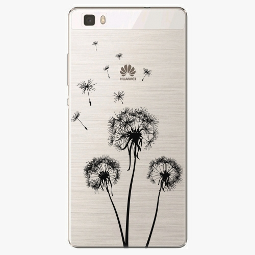 Plastový kryt iSaprio - Three Dandelions - black - Huawei Ascend P8 Lite