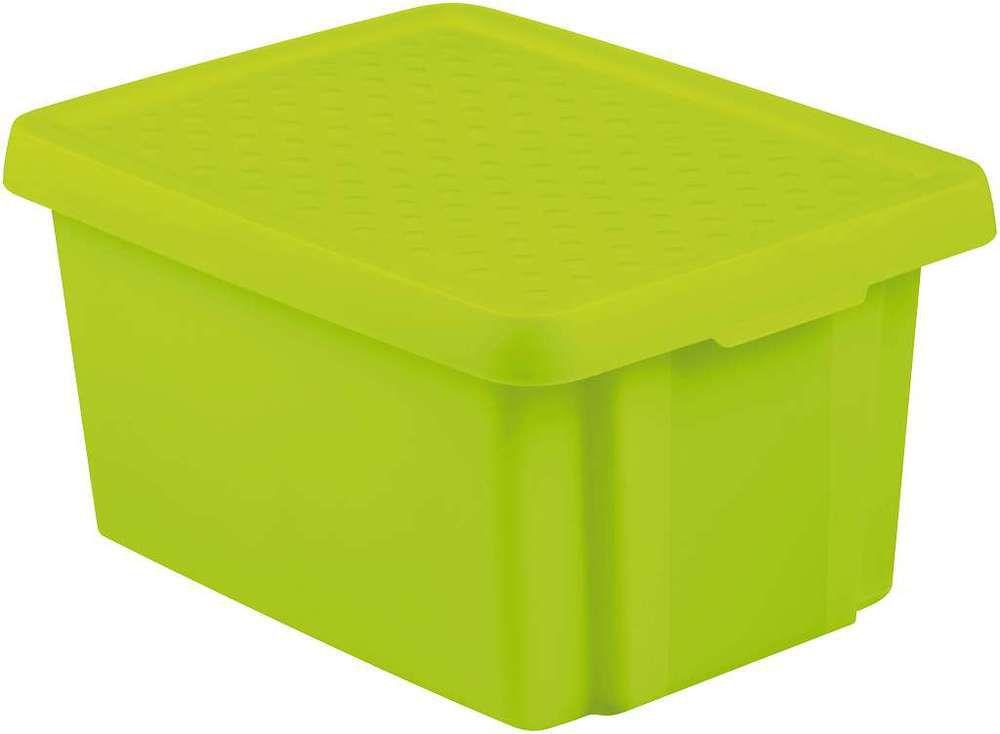 Úlložný box s víkem16L - zelený CURVER