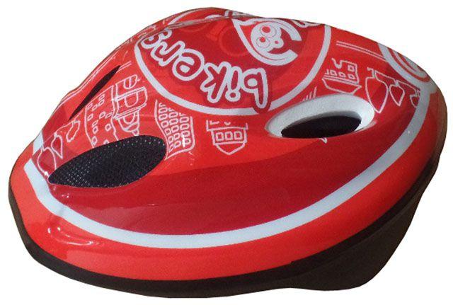 Cyklistická dětská helma červená/bílá velikost M(52-56 cm)