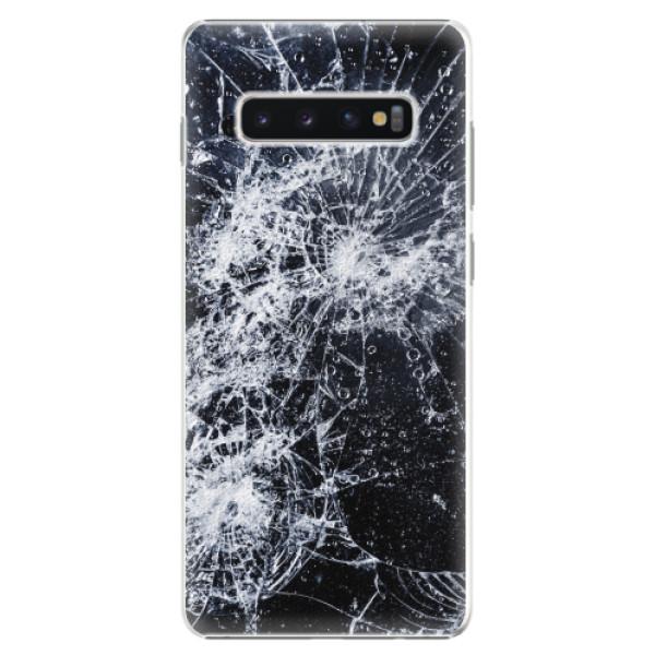 Plastové pouzdro iSaprio - Cracked - Samsung Galaxy S10+