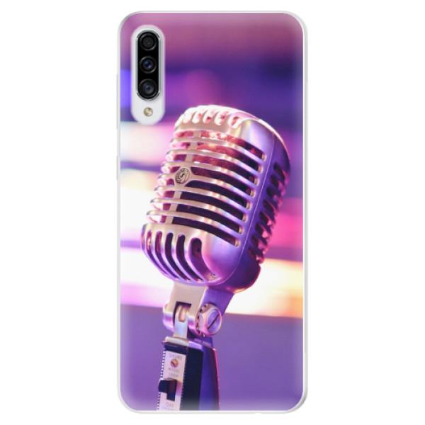Odolné silikonové pouzdro iSaprio - Vintage Microphone - Samsung Galaxy A30s