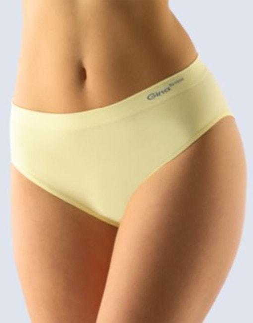 GINA dámské kalhotky klasické, širší bok, bezešvé, jednobarevné Bamboo PureLine 00019P - vanilková