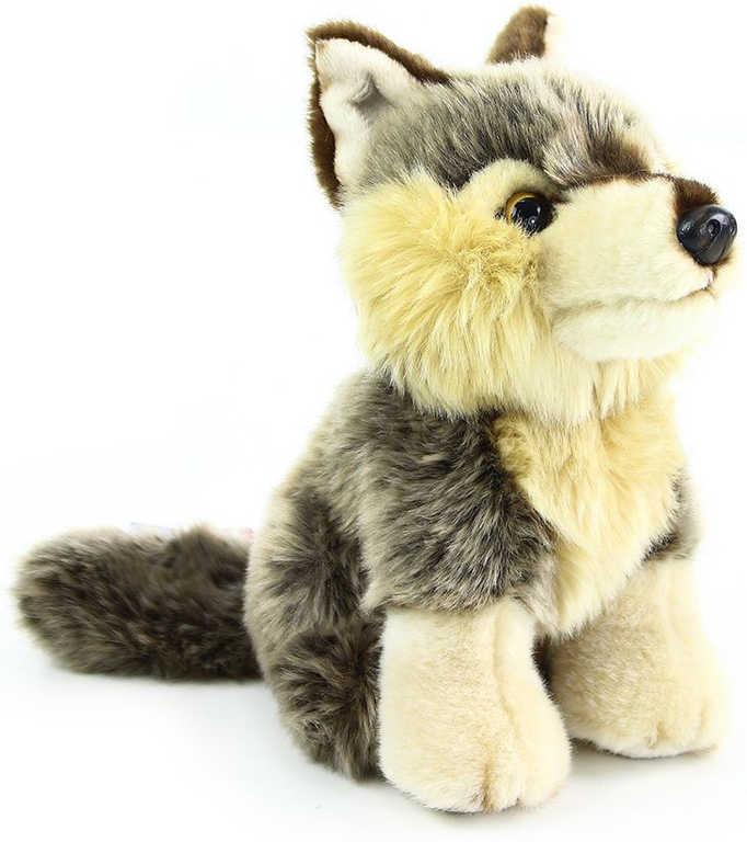 PLYŠ Vlk sedící 30cm exkluzivní kolekce PLYŠOVÉ HRAČKY