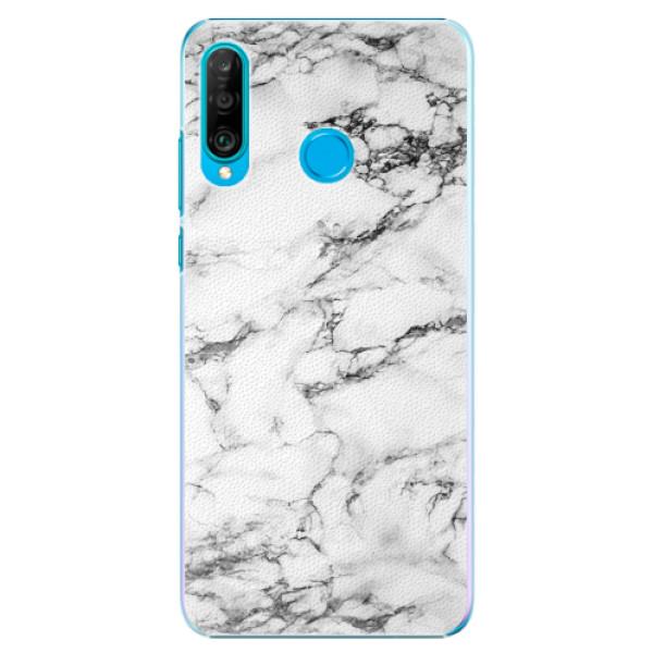Plastové pouzdro iSaprio - White Marble 01 - Huawei P30 Lite