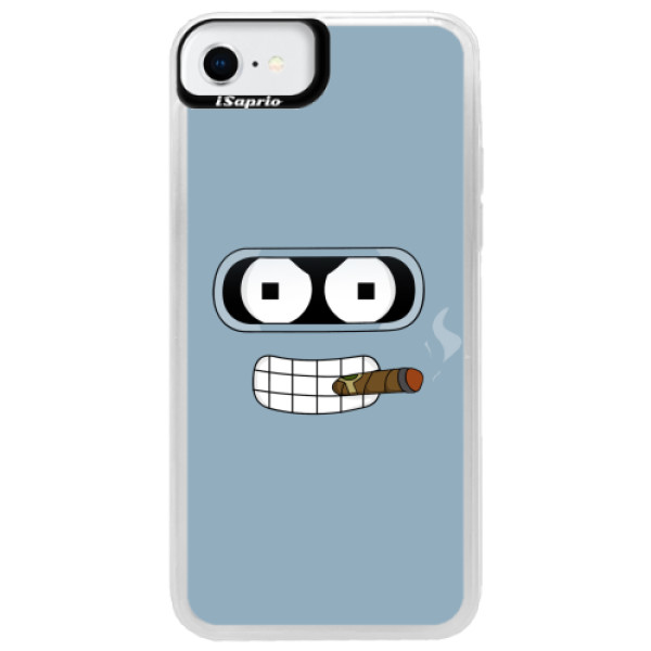 Neonové pouzdro Blue iSaprio - Bender - iPhone SE 2020