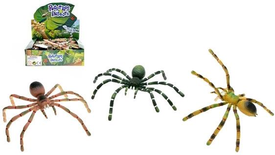 Pavouk pohyblivé nohy 7 x 16 cm 4 barvy PLAST