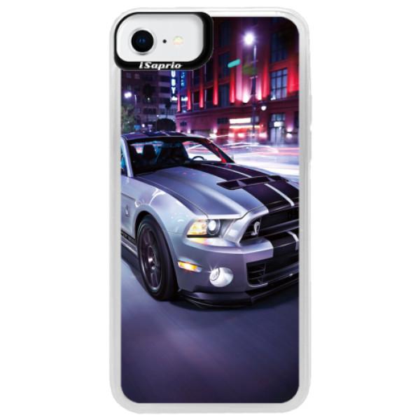Neonové pouzdro Blue iSaprio - Mustang - iPhone SE 2020