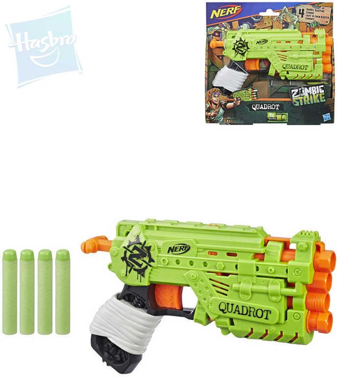 HASBRO NERF Zombie Strike Quadrot set blaster + 4 šipky plast