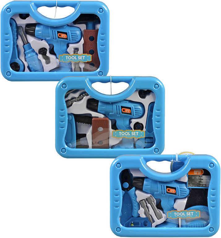 Nářadí dětské set s vrtačkou 14 cm v kufříku - 3 druhy