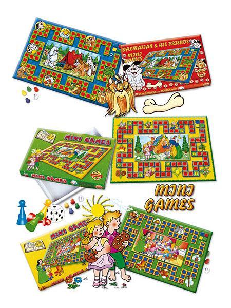 Stolní hra Mini Games Sněhurka - růžová
