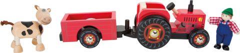 Small Foot Dřevěný farmářský tahací traktor
