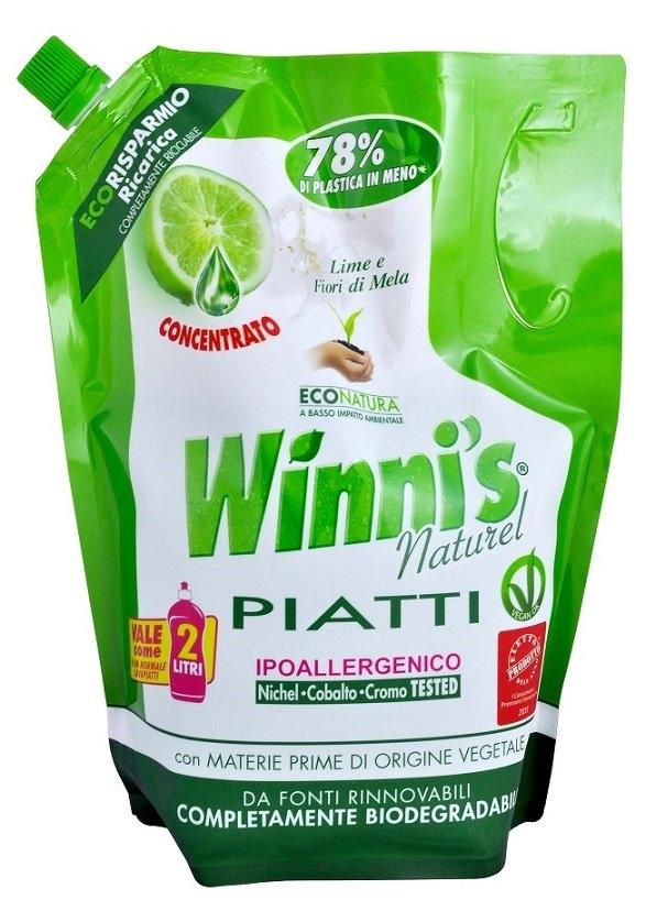 WINNIS Piatti Lime Eco Ricarica mycí prostředek na nádobí s vůní limetky 1 l