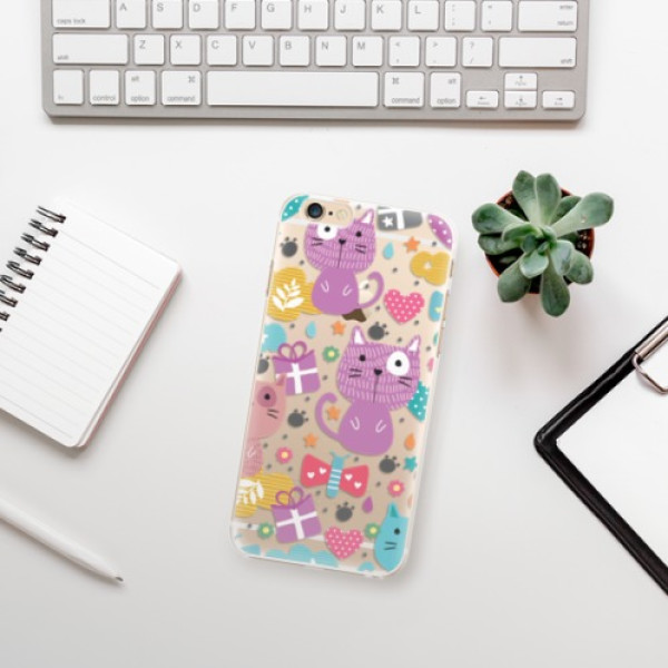 Plastové pouzdro iSaprio - Cat pattern 01 - iPhone 6/6S