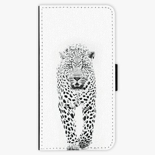 Flipové pouzdro iSaprio - White Jaguar - Huawei Ascend P8