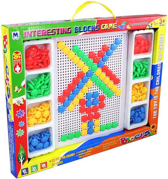 Mozaika plastová barevná v krabici